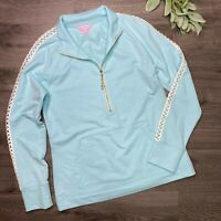 LILLY PULITZER solid skipper pullover light blue size Small