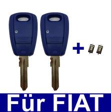2x Schlüssel Rohling Gehäuse für FIAT Punto Doblo Bravo Marea Stilo +2x Taster