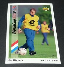 JAN WOUTERS BAYERN NEDERLAND FOOTBALL CARD UPPER DECK USA 94 PANINI 1994 WM94