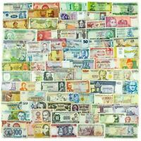 100 DIFFERENT BANKNOTES, REAL VALUABLE PAPER MONEY, OLD CURRENCY