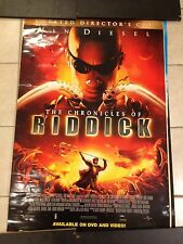 The Chronicles Of Riddick Movie Poster. Vin Diesel. Rare Version, Only 1 On Ebay