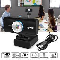 UK USB 20 Megapixel HD Webcam Web Cam Camera & 2020 Microphone Mic For Laptop PC