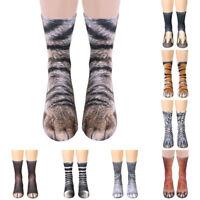Donna uomo bambini Unisex adulto bambini zampa animale Crew Socks stampa calzino