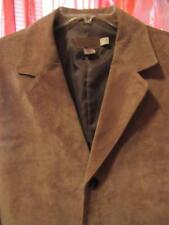 PENDLETON SUEDE  PIG Leather SPORTS BROWN Jacket W Pockets  Lined Size  L LONG