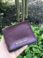 NWT Michael Kors Jet Set Travel Carryall Card Case Wallet Plum