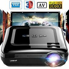 12000Lumens LED 1080P Projektor HDMI/TV/VGA/AV Heimkino Beamer Multimedia 3000:1