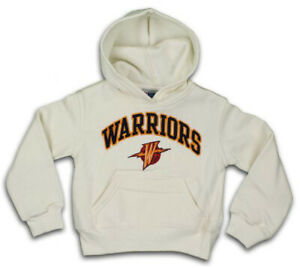 Outerstuff NBA Youth Girls Golden State Warriors Pullover Hoodie, Cream