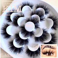 7 PAIRS Mink Lashes Eyelashes 3D WISPY Eyelash Extension Makeup Fur   US SELLER