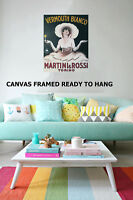 Art Print Vintage Martini Rossi Vermouth advert  Framed painting Canvas original