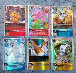 Digimon TCG Promo - 6 Cards - p-001, p-002, p-003, p-004, p-005 and p-006