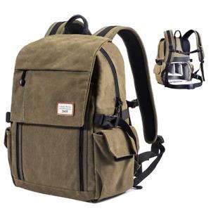 Zecti Camera Backpack Waterproof Canvas DSLR Camera Bag New Version For 1 DSLR