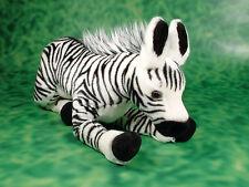 New large floppy baby zebra cuddly soft safari animal toy plush stuff with beans