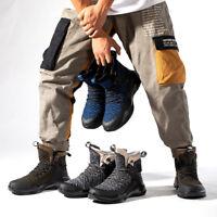 Chaussures sécurité pour hommes Bottes travail légères à bout en acier Baskets 9