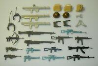 Lot 1982 1983 GI Joe Straight Arm Figure Battle Gear Accessory Pack Gun Weapons
