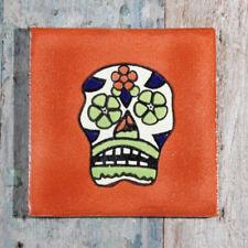 Mexican Tile Sugar Skull Terracotta