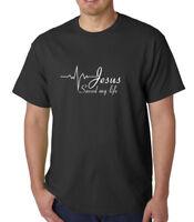 Jesus Saved My Life T-Shirt Religion Christian Catholic Tee God Faith Prayer