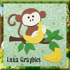 DRIVE ME BANANA'S MONKEY Paper Piecing card making and scrapbooking
