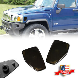 For 05/06-10 Hummer H3/09-10 H3T Smoked Front Fender Side Marker Lights Housing