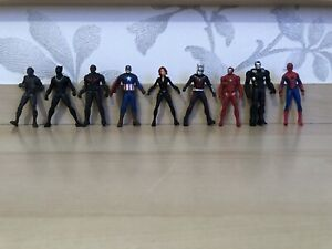 The Avengers Marvel Detailed Figure Bundle - 9x Toy Heroes - Collectable Rare