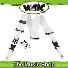 New White Dimarzio Nylon Clip Lock Guitar Strap - DD2200W Cliplock Strap