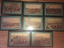 Lot of 8 Prints  Aquatint Framed  1839 Charles Hunt Steeple-Chase Horse Race
