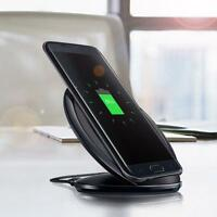 1x QI Wireless Quick Charger Charging Stand Dock Pad For Galaxy S7 edge Black BP