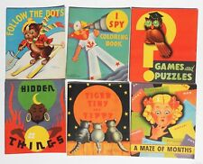 BEAUTIFUL 1936-1942 LOT OF 9 CHILDREN'S BOOKS, PATRIOTIC THEME BOX, WALLY WOOD