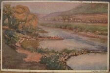 Art Postcard Valley Valle La Sûre à Diekirch LUXEMBOURG From J Oth Oil Painting