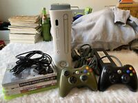 XBOX 360 60 GB HDD CONSOLE BUNDLE with Games and Controllers