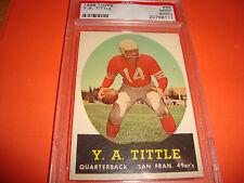 1958 topps #86 Y.A. TITTLE psa 9 oc San Francisco 49er's 111)