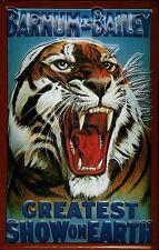 Barnum & Bailey tiger chapa escudo Escudo marcada 3d jadeará Tin sign 20 x 30 cm