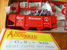 Accurail HO #2302 Canton 2-Bay Hopper GN Red