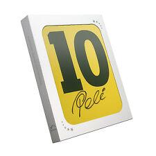Pele Brazil Football Shirt 10 Signed Shirt In Gift Box Memorabilia Sport