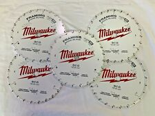 (5) Milwaukee 48-41-0720 7-1/4 in. 24T Framing Circular Saw Blades (5 Pack) NEW