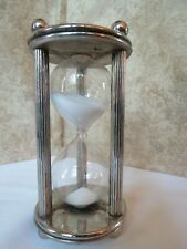Vtg 6 Minute Advertising  Sand Timer Time Count Sandglass Hourglass PA