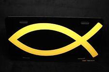 JESUS FISH METAL ALUMINUM  LICENSE PLATE TAG FOR CARS RELIGIOUS CHRISTIAN FAITH