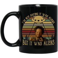 Ancient Aliens Giorgio Tsoukalos It Was Aliens Mug - Black Ceramic Coffee Cup
