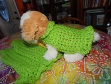 MED Dog Apparel BRIGHT LIME ANGORA Dress/Sweater Ruffles