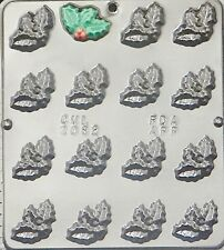 Holly Leaf Chocolate Candy Mold Christmas  2082 NEW