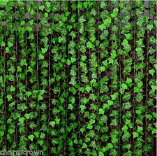Artifical Ivy Leaf Fake Plants Rattan Vine Silk leaves Foliage Flower Decor 2.4m