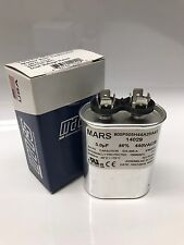 Run Capacitor 5 MFD uf 370 440 v vac volts Oval AC Electric Motor
