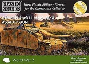 Plastic Soldier WWII German Mini 15mm Stug III Tank New