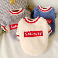 Hundepullover Fleece Pullover für Kleine Hunde und Katzen Hundemantel Chihuahua