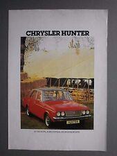 1977 ADVERTISING LEAFLET FOR CHRYSLER HUNTER CAR