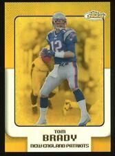 2006 Topps Finest Gold Refractor Tom Brady New England Patriots 15/49
