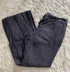 ANN TAYLOR LOFT PETITE BLACK DRESS PANTS WOMENS SIZE 8 Linen
