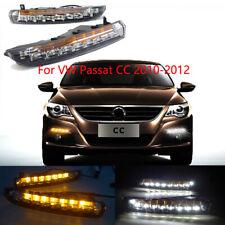 2x LED Daytime Running Light DRL lamps w/ Turn Signal For VW Passat CC 2010-2012