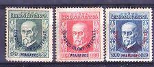 Czechoslovakia 1925 Masaryk MNH MI# 209 - 211 Olimpic Congress overprint VF!!