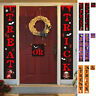Banner ''Trick or Treat'' Couplet Flag Home Decor Sign Halloweeen Door Porch