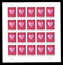 2014- LOVE - CUT PAPER HEART  - #4847a  - Full Mint Imperf Pane (No Die-Cuts)
